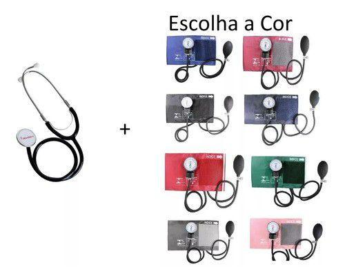 Imagem de Kit Estetoscópio + Aparelho De Pressão Premium Escolha Cor