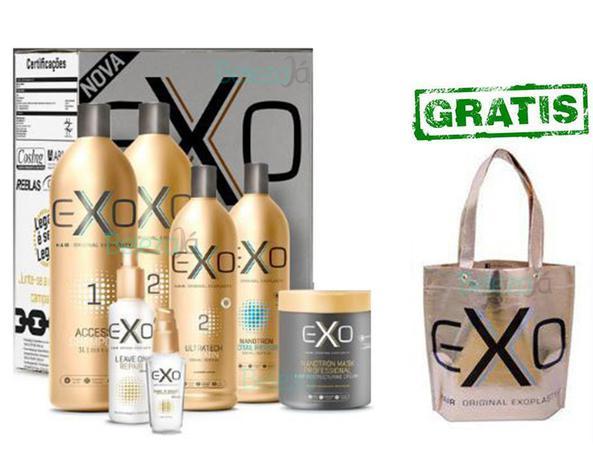 3711c19c1 Kit Exo Hair Salão alisamento e tratamento completo com 7 Produtos  (Exoplastia capilar)