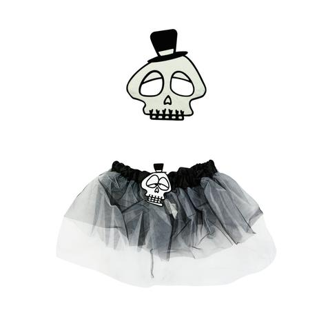 898f8a830 Kit Fantasia Infantil Caveira Esqueleto Halloween - Festabox ...