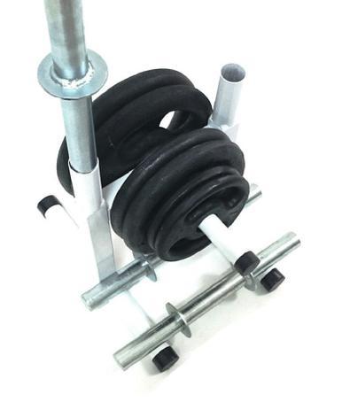 bad5cd828 Kit Fitness com Suporte + 24 Kg de Anilhas + Barras de Halteres - Sepo -  pesos