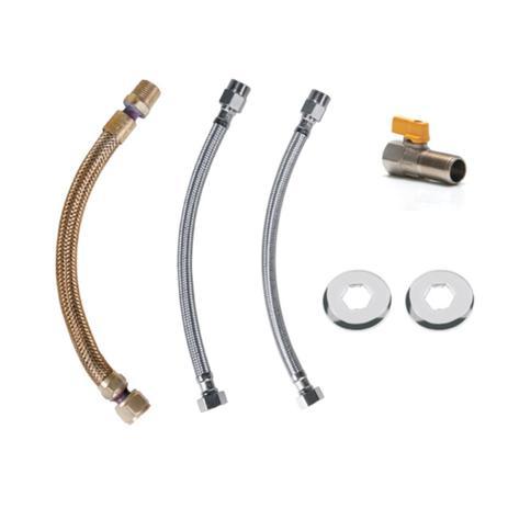 """Kit Flexíveis Aquecedor Gás 1 2""""x30cm Registro Reto Astra ... dd72eff769"""