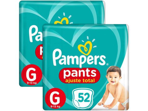 Imagem de Kit Fralda Pampers Ajuste Total Pants