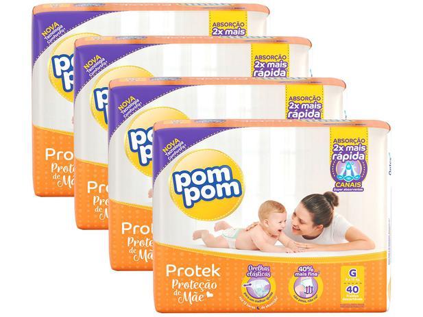 Imagem de Kit Fraldas Pom Pom Protek Proteção de Mãe