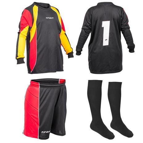 d14ed39594 Kit Futebol Goleiro Infantil Camisa Bermuda Meião Poker - Meião ...