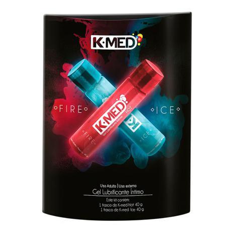 Imagem de Kit Gel Lubrificante Íntimo K-Med Fire e Ice com 2 Unidades 40g cada