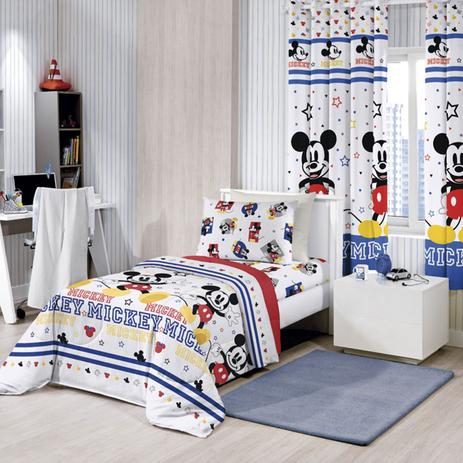 c720fffa3c Kit Infantil Mickey Play Cortina Blackout + Edredom Santista ...