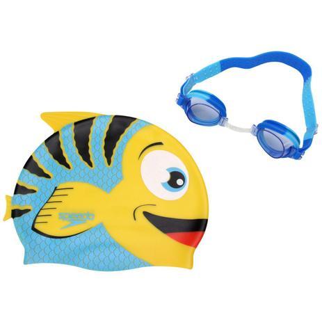 Kit Infantil Óculos + Touca Fish Combo Azul - Speedo - Natação ... 735eba74c9fc0