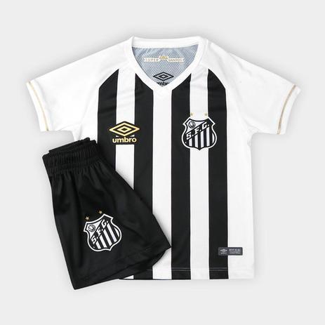 e6260b5c92 Kit Infantil Santos Umbro Oficial 2 2018 - Futebol - Magazine Luiza
