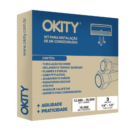 Imagem de Kit Instalação para Ar-Condicionado 12.000 a 18.000 Btus Okity CE0203G