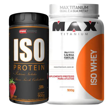 033d5719c Kit Isolado Iso Whey 900g + Protein - Max Titanium Pro Corps - Whey ...