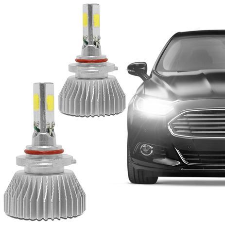 Kit Lâmpada Super LED 3D Headlight 9006 HB4 6000K 4400LM Efeito Xênon Fonte  Embutida   Prime