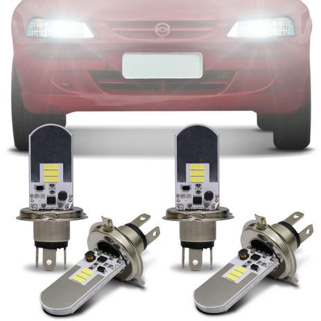 Imagem de Kit Lâmpadas LED Autopoli Chevrolet Celta 2000 A 2005 H4 6500K Efeito Xênon Farol Alto e Baixo