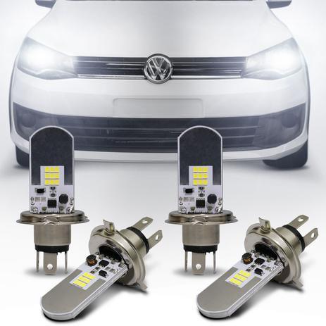 Imagem de Kit Lâmpadas LED Autopoli Volkswagen Saveiro G6 2013 A 2017 H4 6500K Efeito Xênon Farol Alto e Baixo