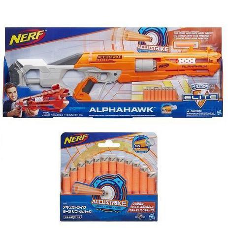 b5a27e161 Kit Lançador NERF Accustrike ALPHAHAWK + Dardos Accustrike Hasbro ...