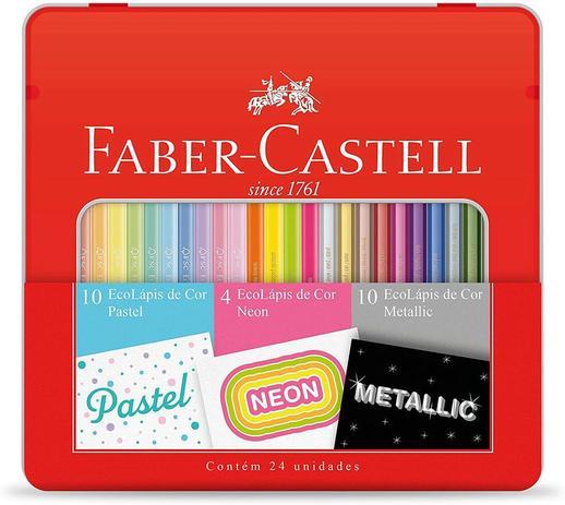 Imagem de Kit Lápis de Cor Pastel + Metalico + Neon Faber-Castell Kit/Cores 29840