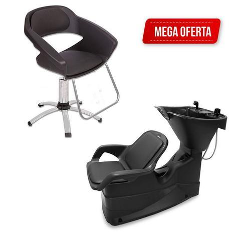 Imagem de Kit Lavatório De Cabelo + Cadeira Primma Dompel C/ Garantia