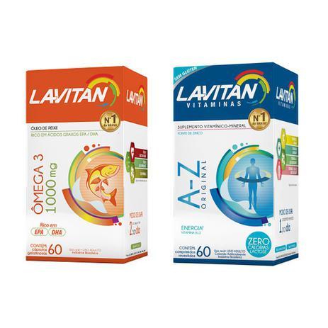 Imagem de kit Lavitan Az + ômega 60/60 igual Centrum Homem