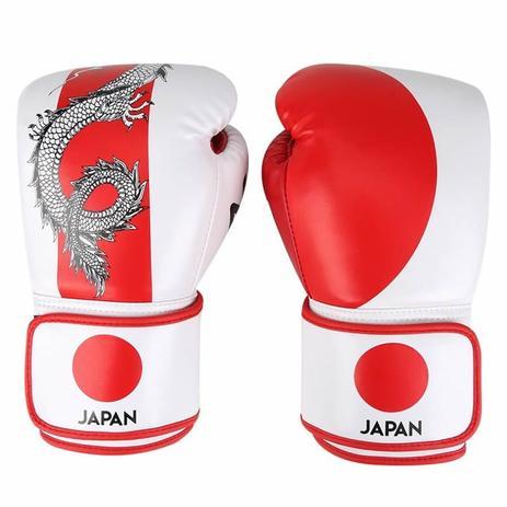 f3af8ef58 Kit Luva Boxe Muay Thai Competição Bandagem Bucal Países Japão Naja ...