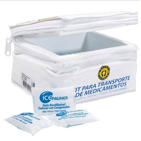 Imagem de Kit Maleta para Transporte de Medicamentos com 14 Gelos Reutilizáveis