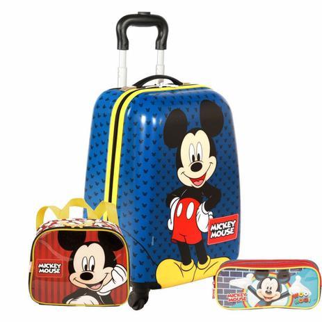 48396bce8 Kit Malinha Escolar Mickey Com Lancheira e Estojo Sestini - Mochila ...