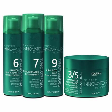 324f346df Kit Manutenção Innovator + Máscara de Recuperação 3/5 500g - Itallian  Hairtech