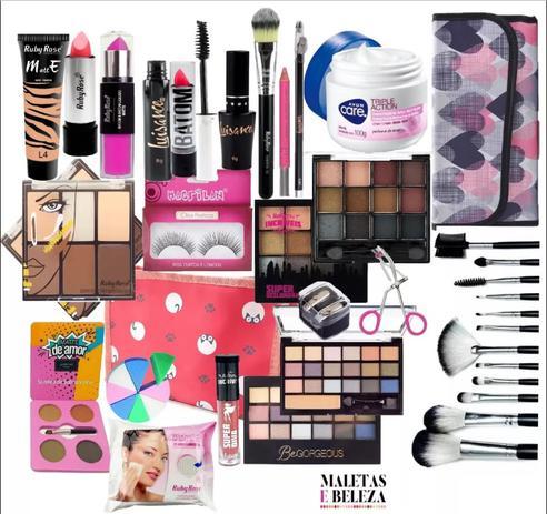Imagem de Kit Maquiagem Completa Profissional Ruby Rose Luisance M71