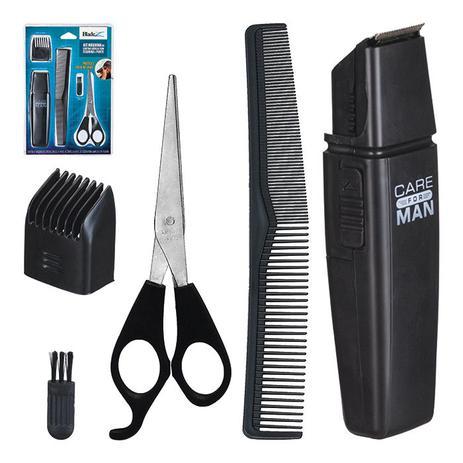 7dba9bcc2 Kit maquina de cortar cabelo aparador de pelos barba bigode sem fio com  tesoura e pente - Gimp