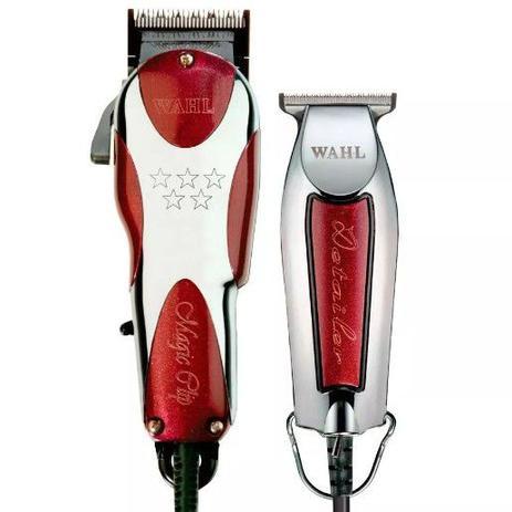 f4711065e Kit máquina de cortar cabelo e acabamento - magic clip 127v e detailer whal