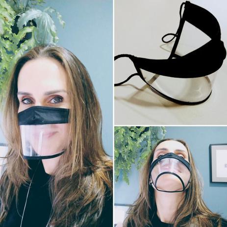 Imagem de Kit Máscara facial Expressão Transparente Preta G com 3 unidades