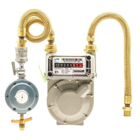Imagem de Kit Medidor de Gás G-1 + Regulador 7 Kg/h