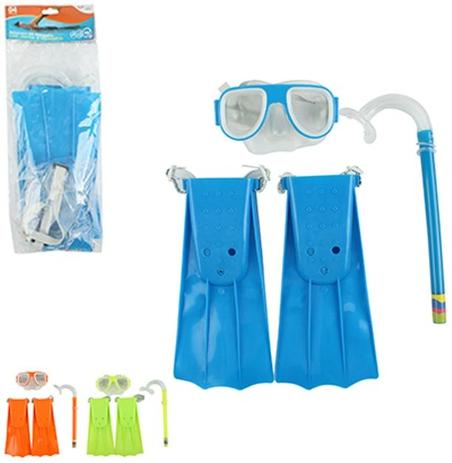 Kit Mergulho Com Mascara   Snorkel   Pé de Pato Colors Summer Fun - Wellmix 5ae646d3d1