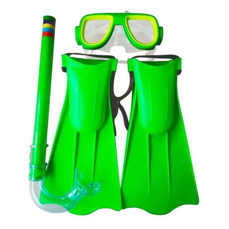 Imagem de Kit Mergulho Snorkel Infantil Com Pé De Pato Amarelo