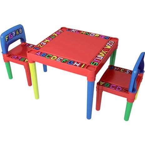 Imagem de Kit Mesa Infantil Educativa Desmontável Com 2 Cadeiras