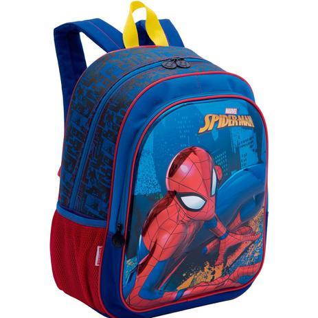 a2e04971d Kit mochila 3D Spider Man infantil com lancheira e estojo Sestini ...