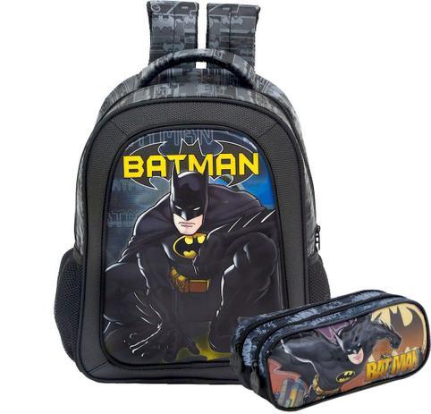 9fb83f3b6f Kit Mochila de alça e Estojo Batman - Xeryus