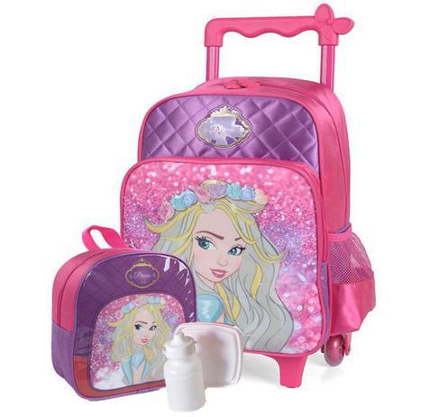 7dbf20562 Kit Mochila Escolar Carrinho+lancheira Princesa Emily - Disney ...