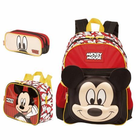 c40e73cb4 Kit Mochila Escolar Costas com Lancheira e Estojo Mickey Mouse Sestini