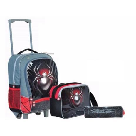 26741a52d Kit mochila escolar infantil spyder homem aranha com rodinhas menino com  lancheira e estojo - Gimp