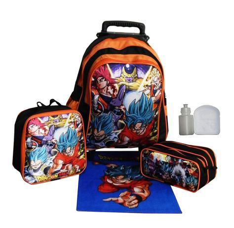 1b64893cc Kit Mochila Infantil Dragon Ball Z Masculina Rodinhas Lancheira Estojo -  Outras marcas