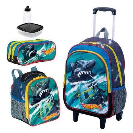 Kit Mochila Infantil Hot Wheels 19x 3d Lancheira Estojo Sestini - Mochila  escolar e85e28be7b8