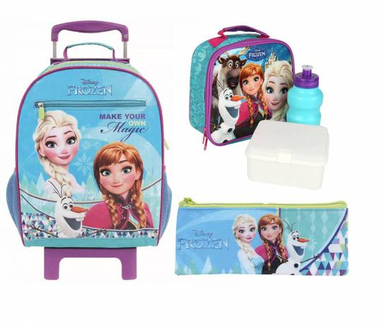 Imagem de Kit Mochilete com Lancheira e Estojo Magic Frozen Disney - Dermiwil 30191