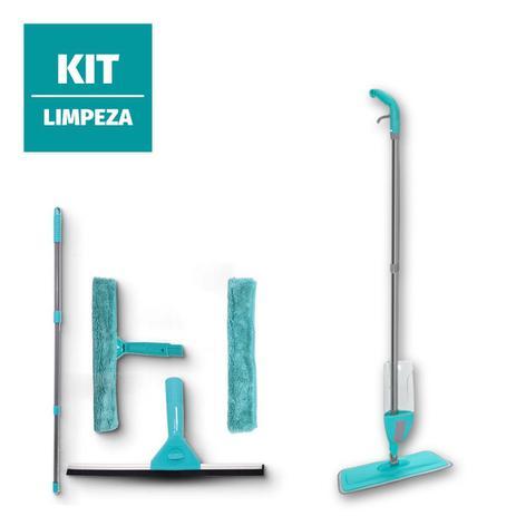 Imagem de Kit mop spray rodo limpa vidro mágico esfregão limpeza moop