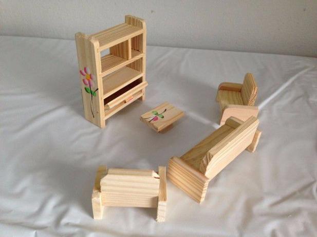 Imagem de Kit Moveis Boneca Barbie Polly Sala Completa