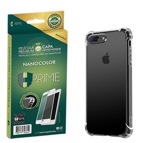 Kit Nanocolor HPrime Película Nanoshield Branco + Capa Apple iPhone 8 Plus