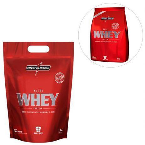 a05784529 Kit Nutri Whey Protein - Chocolate 1800g Refil + Nutri Whey Morango 907g  Refil - Integralmédica - Integralmedica
