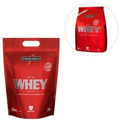 96998e7d7 Kit Nutri Whey Protein - Morango 1800g Refil + Nutri Whey Chocolate 907g  Refil - Integralmédica - Integralmedica