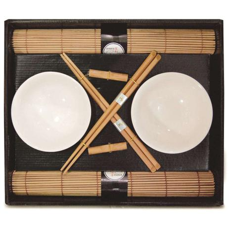 Imagem de Kit Oriental Sushi 8 Peças Hashi Bowl Esteira Suporte Kyoto Yoi