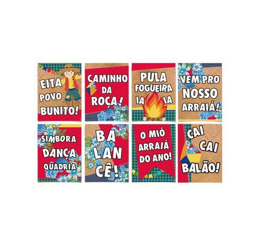 Kit Painel Cartaz Para Decoração Festa Junina 8 Unidades Cromus Festabox