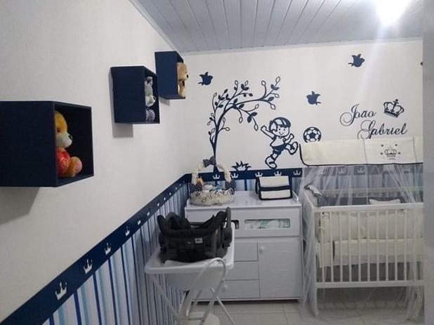 Imagem de Kit Painel de Parede Completo Menino Futebol  Personalizado Decoração Quarto do Bebê