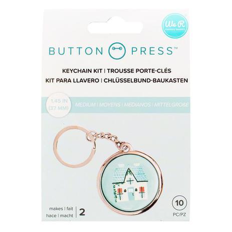 Imagem de Kit para Chaveiros Button Press We R - 15 Unidades